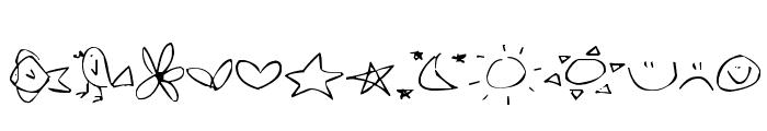 Pea Jokilyn Doodles Font UPPERCASE