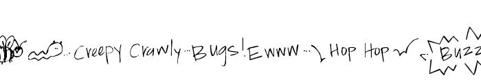 Pea Jokilyn Doodles Font LOWERCASE