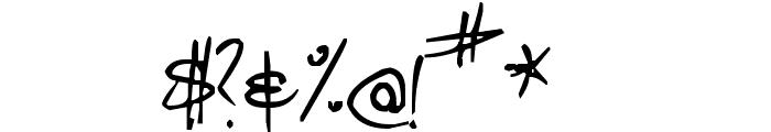 Pea Jordan Font OTHER CHARS