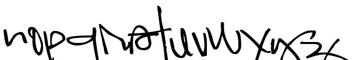 Pea Kadee Font LOWERCASE
