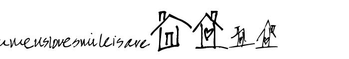 Pea Karen's Doodles Font UPPERCASE