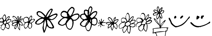Pea Karen's Doodles Font LOWERCASE