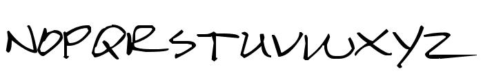 Pea Karen's Script Font UPPERCASE