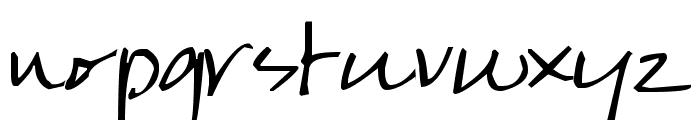 Pea Karen's Script Font LOWERCASE