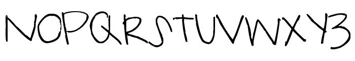 Pea Karlee Font UPPERCASE
