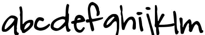 Pea Kelly Font LOWERCASE