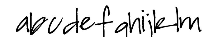 Pea Keylor Font LOWERCASE