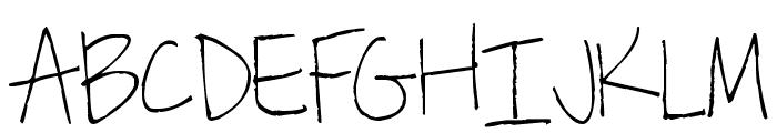 Pea Kiley Font UPPERCASE