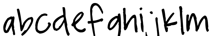 Pea Ladybug Font LOWERCASE