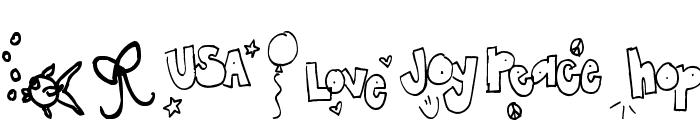 Pea Lauren Doodles Font UPPERCASE