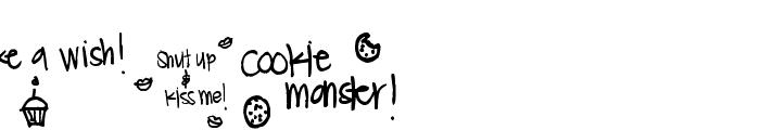 Pea Lauren Doodles Font LOWERCASE