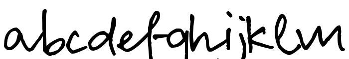 Pea Lian Script Font LOWERCASE