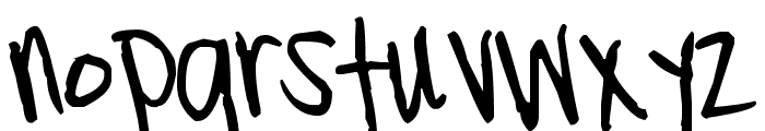 Pea Lillindy Font LOWERCASE