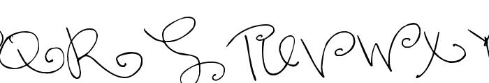 Pea Lovey Dovey Font UPPERCASE