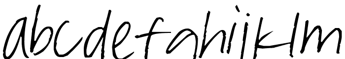 Pea Marcie's Skinny Print Font LOWERCASE