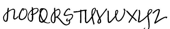 Pea Marcie's Skinny Script Font UPPERCASE