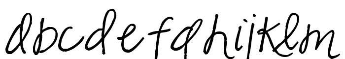 Pea Marcie's Skinny Script Font LOWERCASE