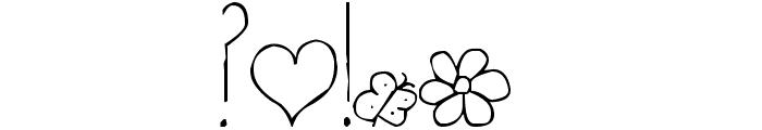 Pea Martha Font OTHER CHARS
