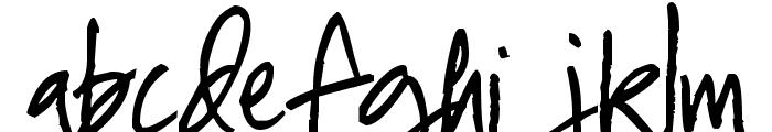 Pea Mel's In Between Font LOWERCASE