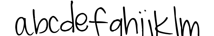 Pea Miss Mary Font LOWERCASE