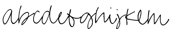 Pea Missy Cursive Font LOWERCASE