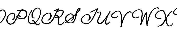 Pea NJH Script Font UPPERCASE