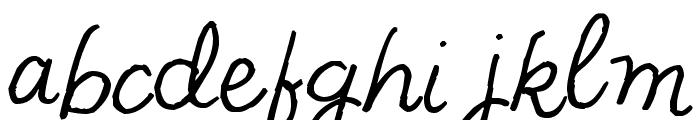 Pea NJH Script Font LOWERCASE