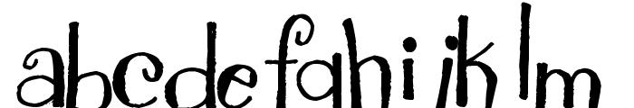 Pea NJH Whimsy Font LOWERCASE