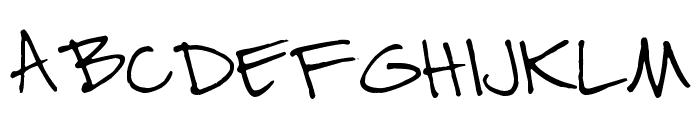 Pea Nic Script Font UPPERCASE