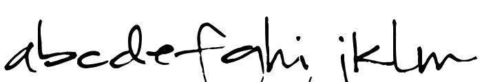 Pea Nic Script Font LOWERCASE