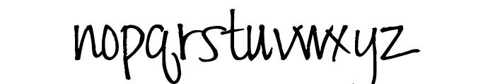 Pea Nicki Font LOWERCASE