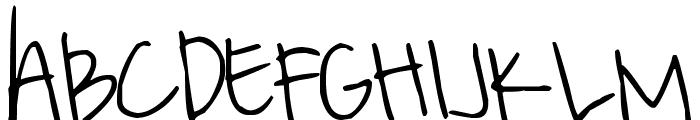 Pea Righton Font UPPERCASE