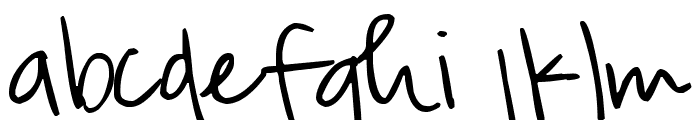 Pea Righton Font LOWERCASE