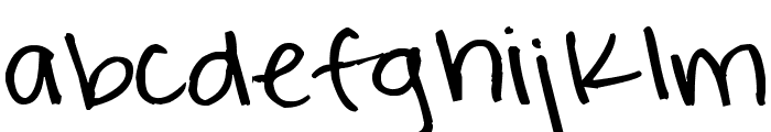 Pea Rigsby Font LOWERCASE