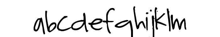 Pea Riley Font LOWERCASE