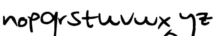 Pea Rowan Schaefer Font LOWERCASE