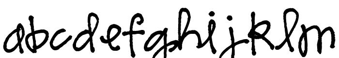 Pea Sarah Cute Font LOWERCASE