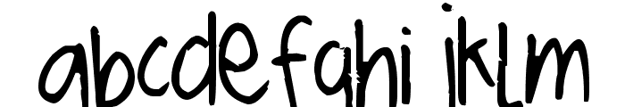 Pea ScrapBrandy Thin Font LOWERCASE
