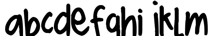 Pea ScrapBrandy Font LOWERCASE