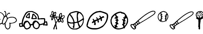 Pea Shelley Belley's Doodles Font UPPERCASE