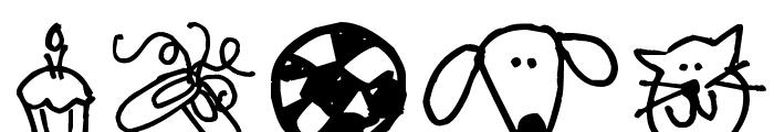 Pea Shelley Belley's Doodles Font LOWERCASE