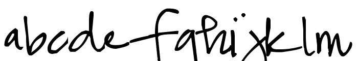 Pea Snoflake Font LOWERCASE
