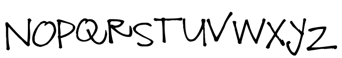 Pea Snow Font UPPERCASE