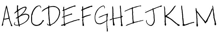 Pea So Lovely Font UPPERCASE
