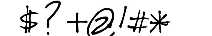 Pea Soniablu Font OTHER CHARS
