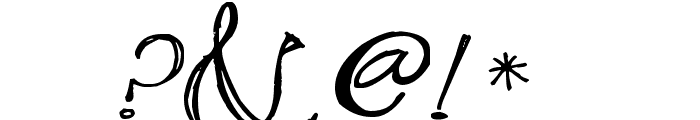 Pea Stacy's Doodle Script Font OTHER CHARS