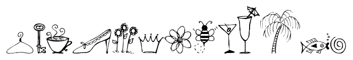 Pea Stacy's Doodles Font LOWERCASE