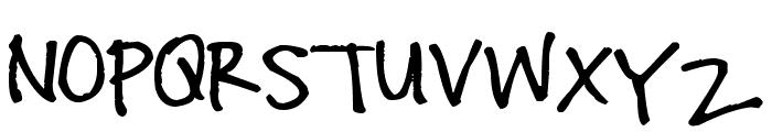 Pea Steele Font UPPERCASE