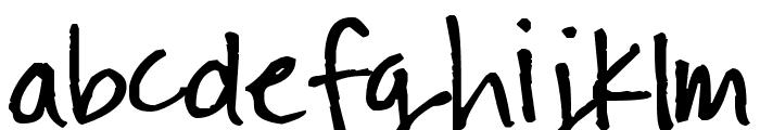 Pea Steele Font LOWERCASE