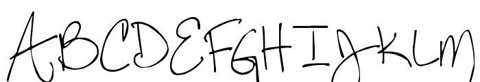 Pea Steph Font UPPERCASE